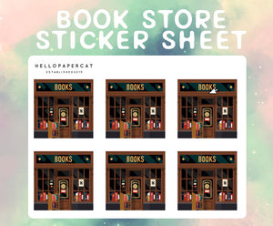 Book Store sticker sheet