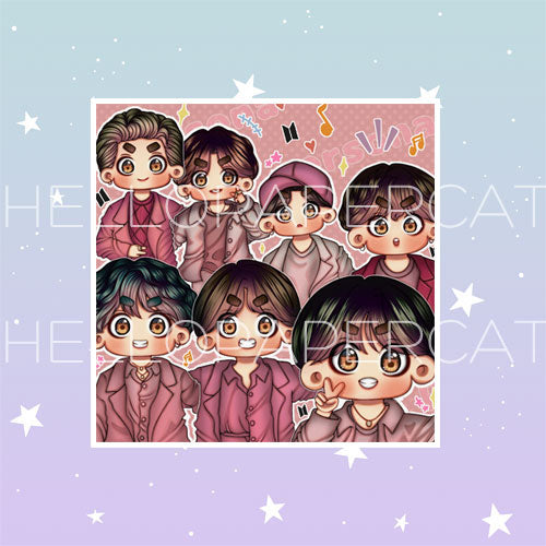 Boy with Luv BTS die cut