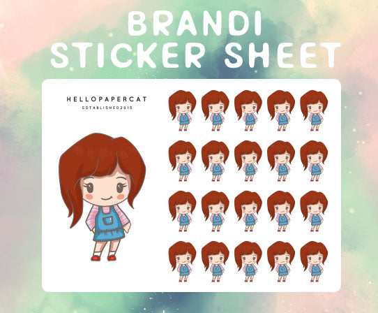 Brandi sticker sheet