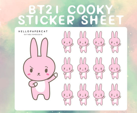 BT21 Cooky sticker sheet