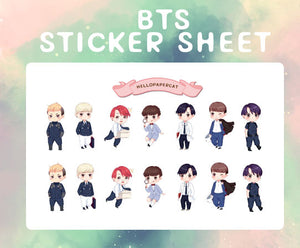 BTS  sticker sheet