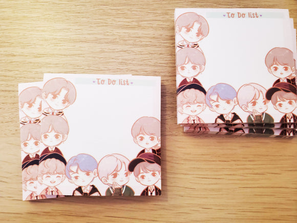 BTS to do list sticky notes