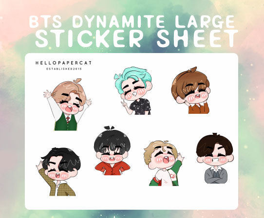 BTS Dynamite large sticker sheet