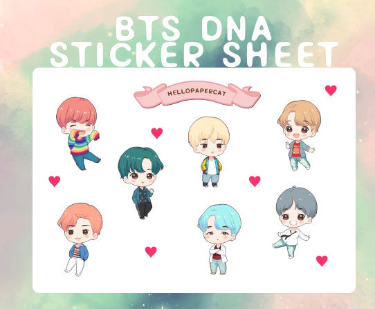 BTS DNA sticker sheet