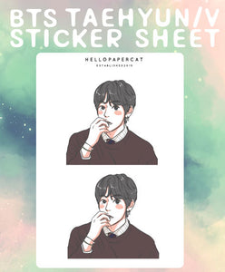 BTS Taehyun/V sticker sheet