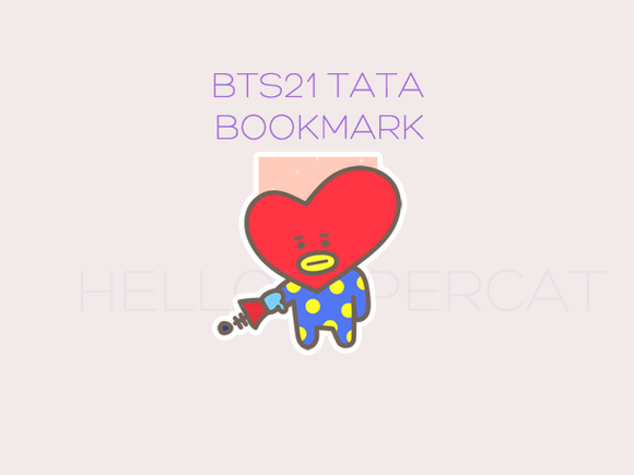 BT21 Tata magnetic bookmark