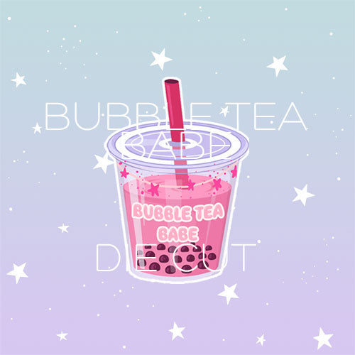 Bubble tea babe die cut