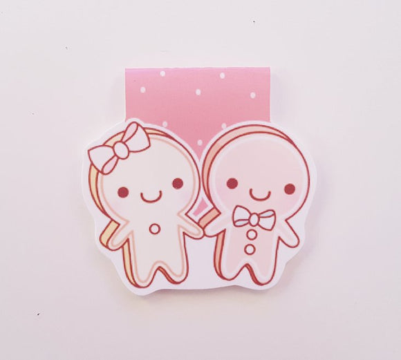 gingerbread couple magnetic bookmark