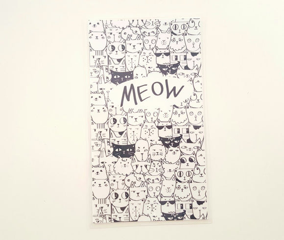 Meow Black and white planner dashboard