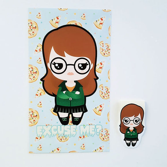 Kawaii Daria dashboard or magnetic bookmark