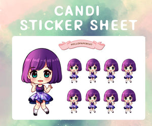 Candi sticker sheet