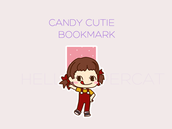 Candy Cutie magnetic bookmark