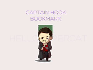 Captain Hook - OUaT magnetic bookmark