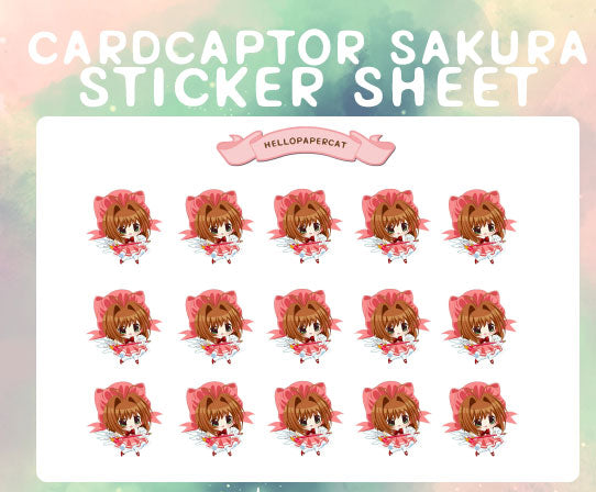 Cardcaptor Sakura sticker sheet