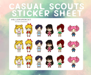Casual Scouts sticker sheet