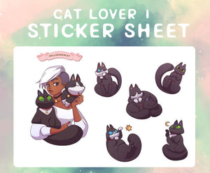 Cat Lover 1 sticker sheet