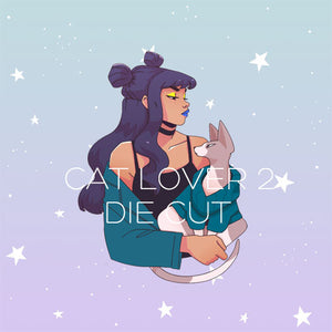 Cat Lover 2 die cut