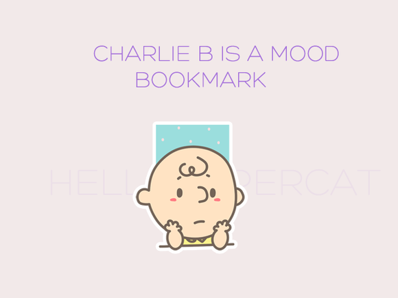 Charlie B is a mood magnetic bookmark