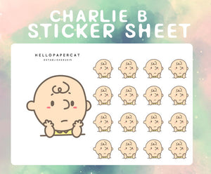 Charlie B is a mood sticker sheet