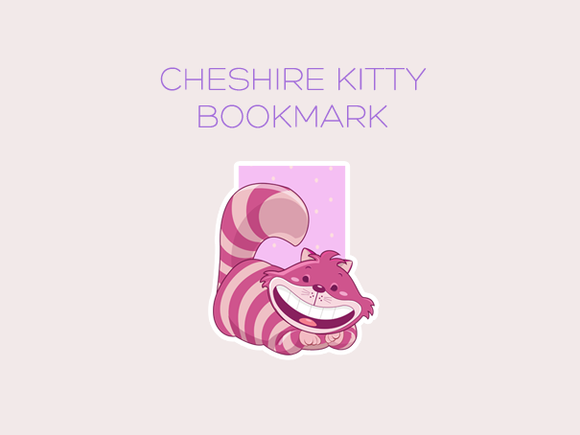 Cheshire kitty magnetic bookmark