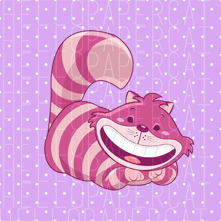 cheshire cat digital diecut