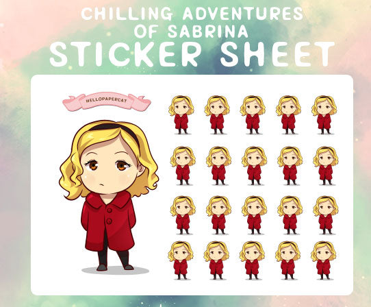 Chilling Adventures of Sabrina sticker sheet