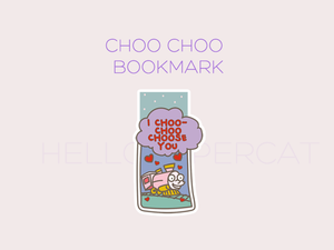 choo choo magnetic bookmark
