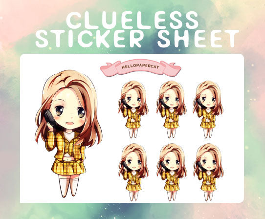 Clueless  sticker sheet
