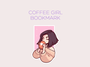 Coffee Girl magnetic bookmark