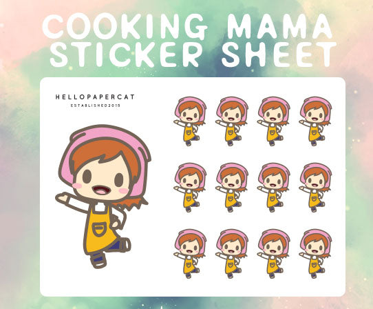 Cooking Mama sticker sheet