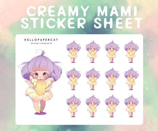Magical Creamy Mami sticker sheet