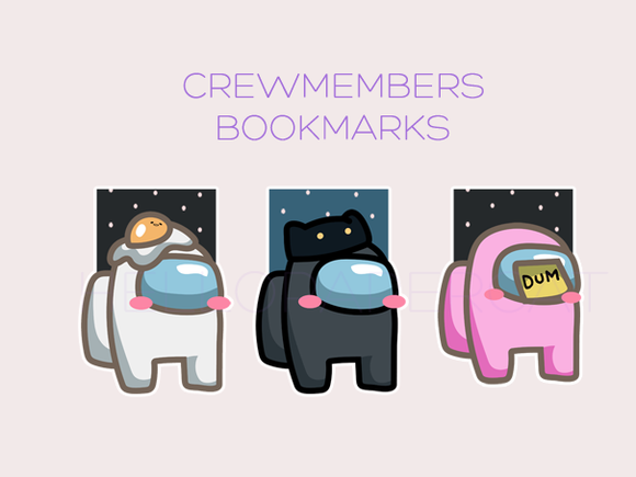 Crewmembers magnetic bookmark