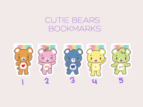 Cutie Bears magnetic bookmarks