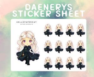 Daenerys sticker sheet