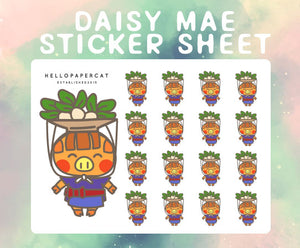 Daisy Mae sticker sheet