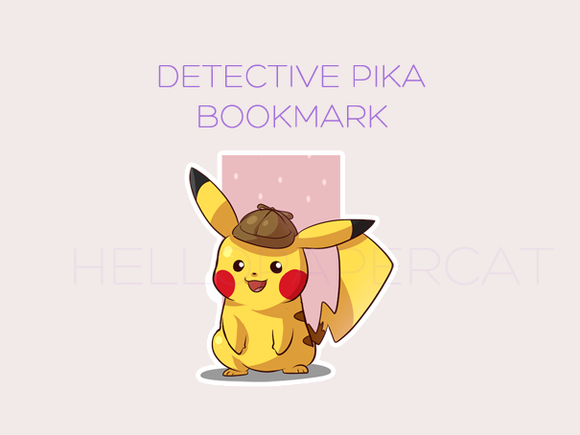 Detective Pika magnetic bookmark