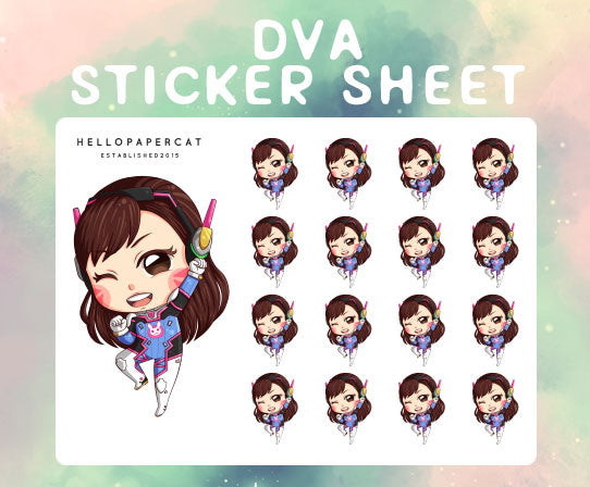 Dva sticker sheet