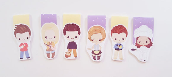 friends inspired magnetic bookmark set