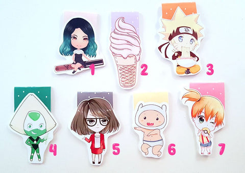 Kylie, ice cream, naruto, peridot, working girl, baby, misty magnetic bookmark
