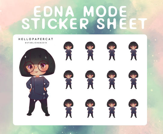 Edna M. sticker sheet
