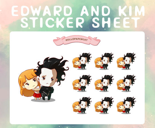Edward and Kim sticker sheet