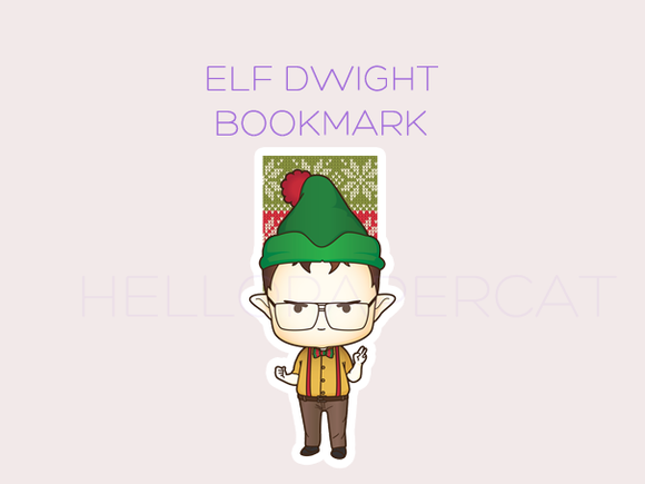 Elf Dwight magnetic bookmark