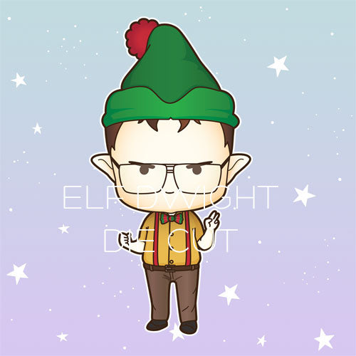 Elf Dwight die cut