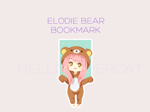 Elodie Bear magnetic bookmark