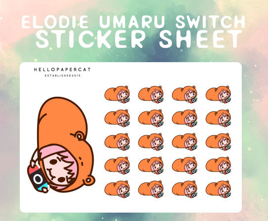 Elodie Umaru switch sticker sheet