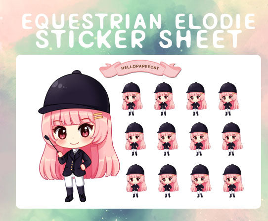 Equestrian Elodie sticker sheet
