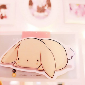 Lop rabbit magnetic bookmark