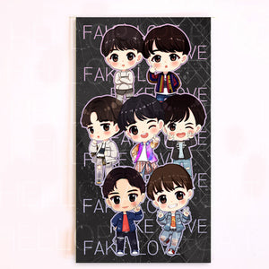 BTS FAKE LOVE planner dashboard