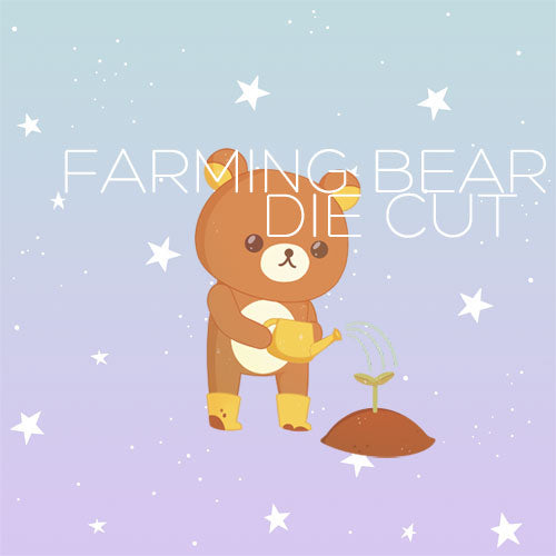 Farming Bear die cut