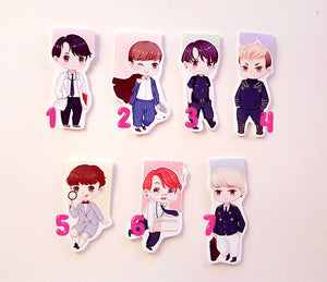 BTS magnetic bookmarks